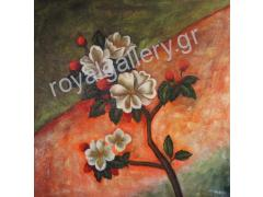 FLOWERS PAINTING DIMENSION 80x80 FRPM 255.00 ONLY 127.00