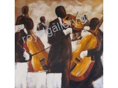 ORCHESTRA WIT VIOLINS PAINTING DIMENSION 100x100