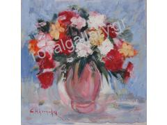 flower painting - painter Ηliopoulos dimension 60X60