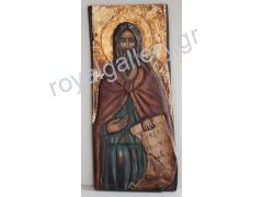 WOOD CARVED PAINTED ICONS GARDIKIOTIS