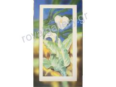 REPRODUCTION 50X100 FLOWERS (PAINTED FRAME 62X112)