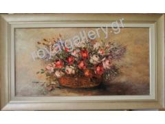 MARNEZOY 50X100 FLOWERS OILPAINTING (FRAME 70X120))