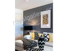DECORATION WITH BLACK -WHITE-YELLOW