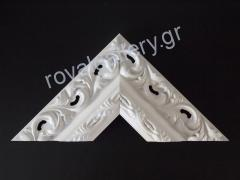 FRAME WHITE CARVED WOOD 10 CM