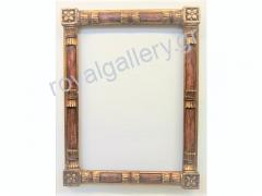 Woodcut frame with gold foil and grow-hand from Florentia 872