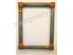 Woodcut frame with gold foil and grow-hand from Florentia 873