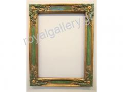 Woodcut frame with gold foil and grow-hand from Florentia 889