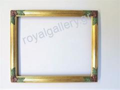 Woodcut frame with gold foil and grow-hand from Florentia 882