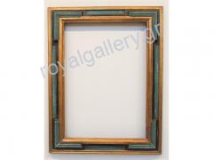 Woodcut frame with gold foil and grow-hand from Florentia 884