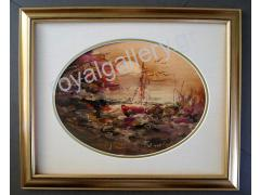 MOURATIDOY 30X40 OILPAINTING OVAL -FRAME50X60