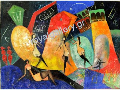 BADRI 60X80 OILPAINTING ''SEXY LADIES'' -CALL US FOR PRICE [ΒΑD413]