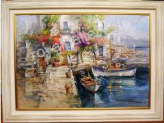 RIGOULIS 92X122 WITH THE FRAME -OILPAINTING-CALL US FOR THE PRIC